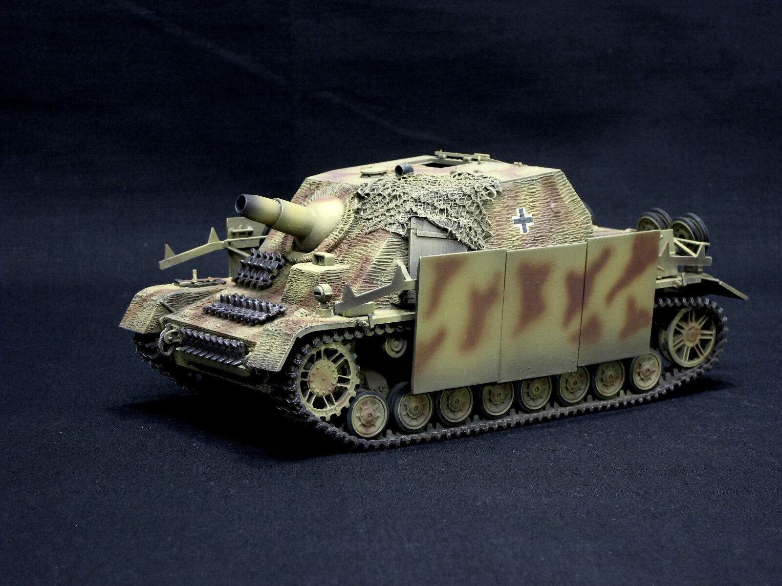 STURMPANZER IV BRUMBAR PRO BUILT AND  PAINTED 1 35 TAMIYA DRAGON AEMY ITALERI