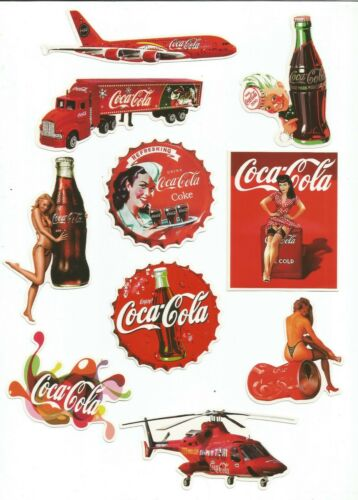 10 Pack of Coca Cola Stickers Choice