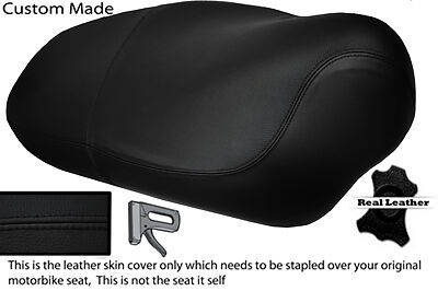 BLACK STITCH  CUSTOM FITS APRILIA MOJITO HABANA 50 125 DUAL LEATHER SEAT COVER