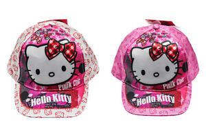 82edec9f6 Details about Hello Kitty Baseball Cap, Cap, Hat, White + Pink, 52 cm + 54  cm, Wonderfull New