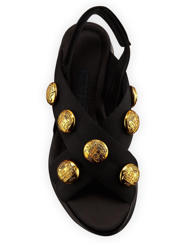 NEW AUTHENTIC BURBERRY ACTIONSHIRE ACTIONSHIRE ACTIONSHIRE baskets SANDAL chaussures LOGO us10.5 eu40.5 fa91c9