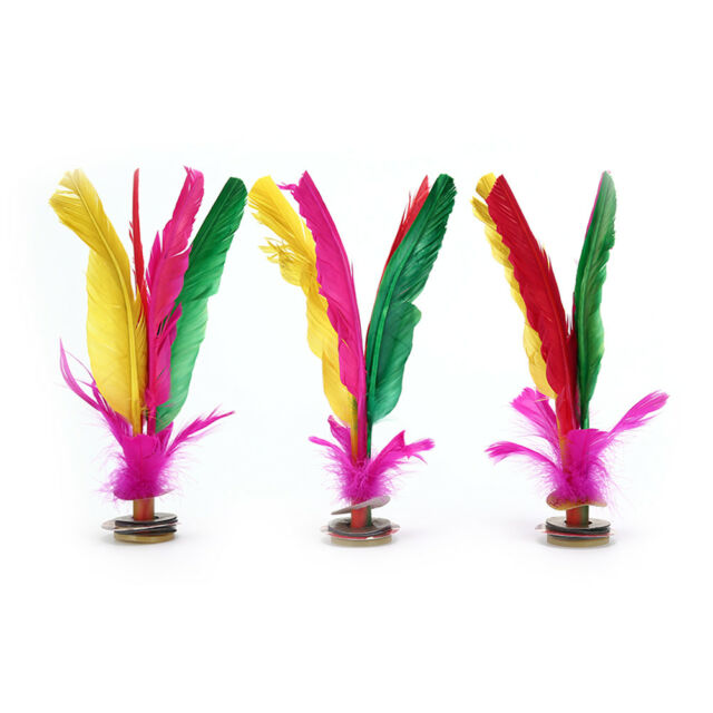 Jianzi 23Cm Foot Sports Game Kick Feather Kicking Shuttlecocks WA
