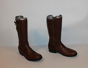 Zip Toe Biker Size Casual Brown 3 River Mid Round Woods Calf 36 Boots Leather t4BxHf