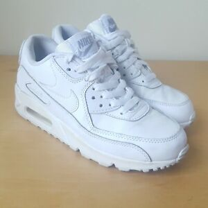 capítulo Bajo mandato ratón  Womens Nike Air Max 90 Trainers Size Uk 4 White USED