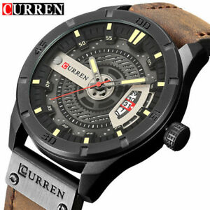CURREN-Watch-Men-039-s-Quartz-Watches-Leather-Wristwatches-Casual-Sports-Business