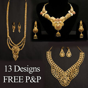 24k-Gold-Plated-Indian-Bollywood-Bridal-Wedding-Jewellery-  sc 1 st  eBay : gold plated indian jewelry sets - pezcame.com