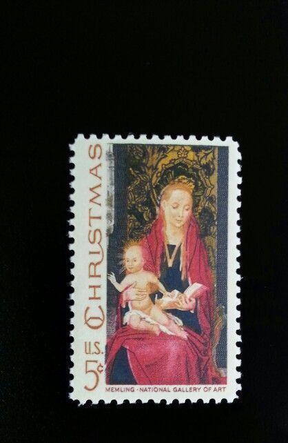 1967 5c Christmas Madonna, Memling, Gallery of Art Scot