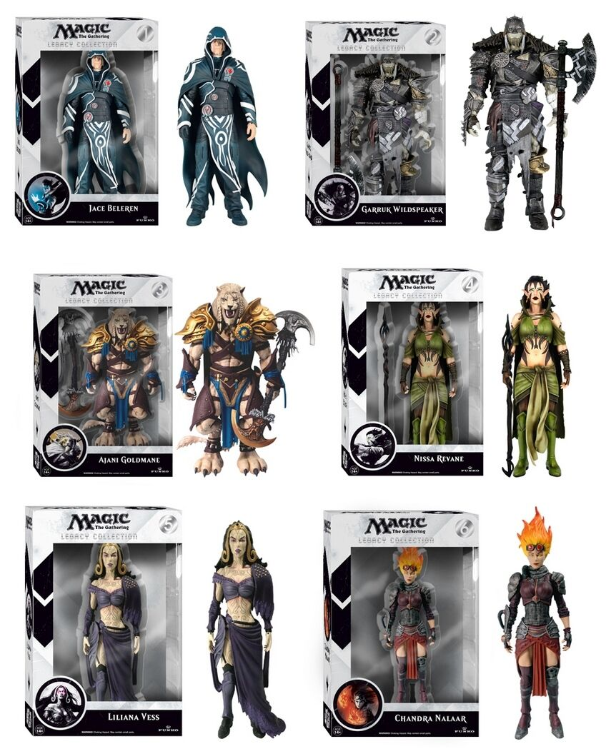 MAGIC THE GATHERING - 7  Legacy Collection Series 1 Action Figure Set (6) Funko