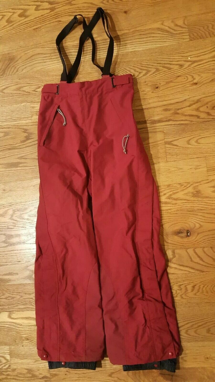 Rare VTG Patagonia damen rot powder bowl Snow Pants bibs Größe 8 ski board