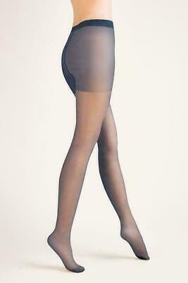 Free P/&P One Size 10 Denier Sheer Dark Navy Blue Plain Knit Stockings
