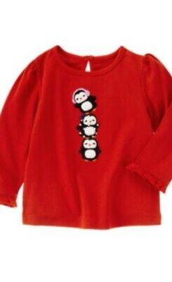 Gymboree Winter Penguin 2T White Black Polka Dot Pants 11