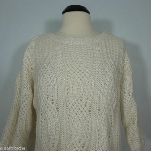 8181bebc34d ANN TAYLOR Cable Knit Wool Blend Sweater