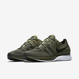 4a6facea698f Men s Nike Flyknit Trainer Running Shoes Medium Olive Black AH8396 ...