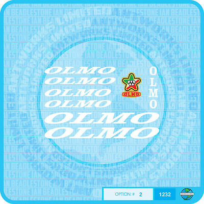 White Transfers Decals 01232 Olmo Bicycle Stickers