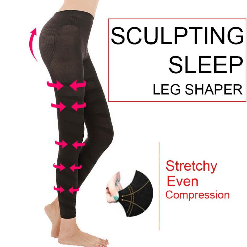 95eb3a391c18ef Details about SCULPTING SLEEP LEG SHAPER -Women Slimming Shaper - SEXY Pants  Legging Socks Hot