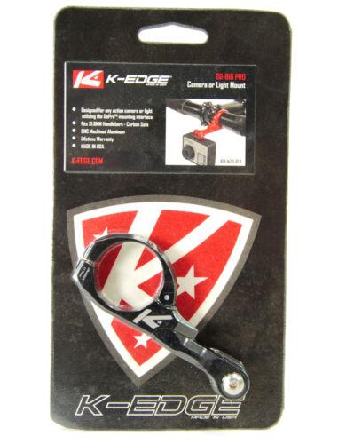 K-EDGE Go Big Pro Universal Action Camera and Light Handlebar Mount 31.8mm Black
