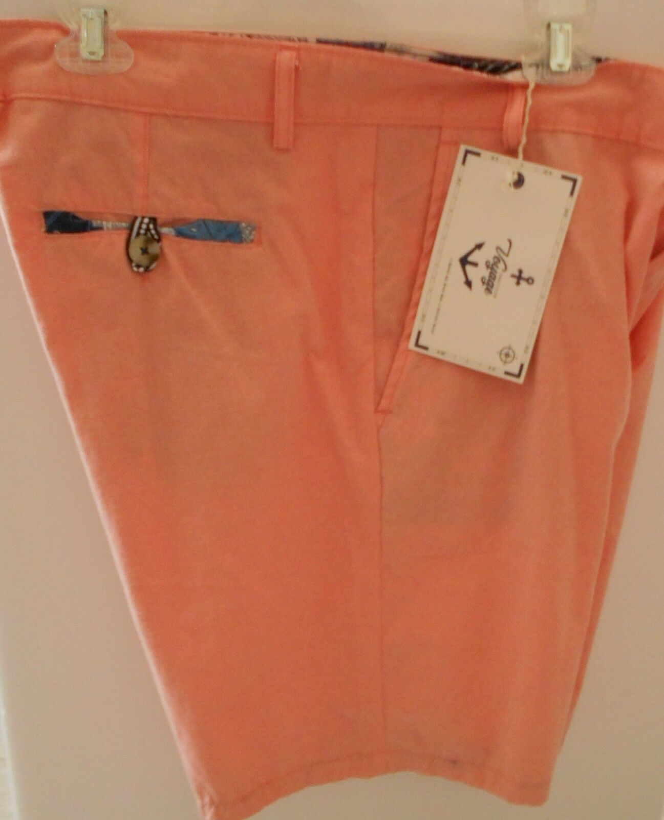 Voyage Craft Flow Mens 38 orange Casual Dress Shorts 8 inch Inseam Beach