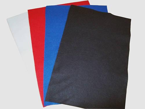 ART /& CRAFT FELT SHEETS A4 SIZE 4 DIFFERENT COLOURS