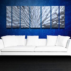 Modern Abstract Metal Wall Sculpture Art Work Contemporary Design Home Decor Lg Ebay