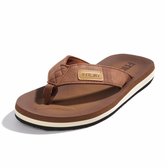 search for best new release 2019 wholesale price FITORY Men's Flip-Flops, Thongs Sandals Comfort Slippers for Beach