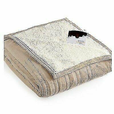 Biddeford Blankets 2061 9052140 700 Microplush Electric Heated Blanket Full Taupe For Sale Online Ebay