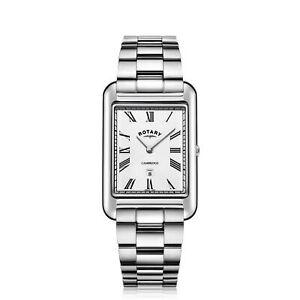 Rotary-GB05280-01-Men-039-s-Cambridge-Oblong-Wristwatch