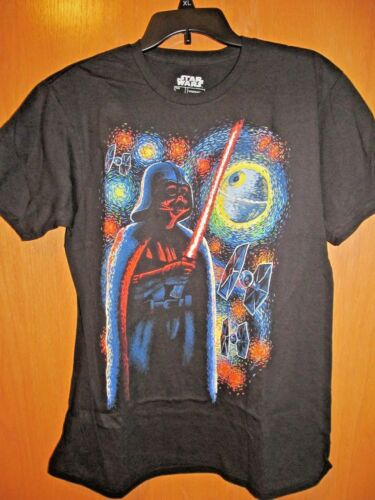 Men/'s DARTH VADER STARRY NIGHT Black SS Tee Shirt~Size XL 46-48 ~New w//tag