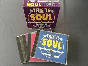 4-CD-set-THIS-IS-SOUL-Sledge-Drifters-Mc-Rae-Reeves-King-Brown-Butler-Floyd-Tams