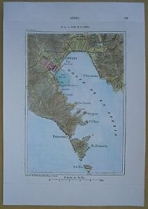 1875-Perron-map-GULF-OF-LA-SPEZIA-LIGURIA-ITALY-74