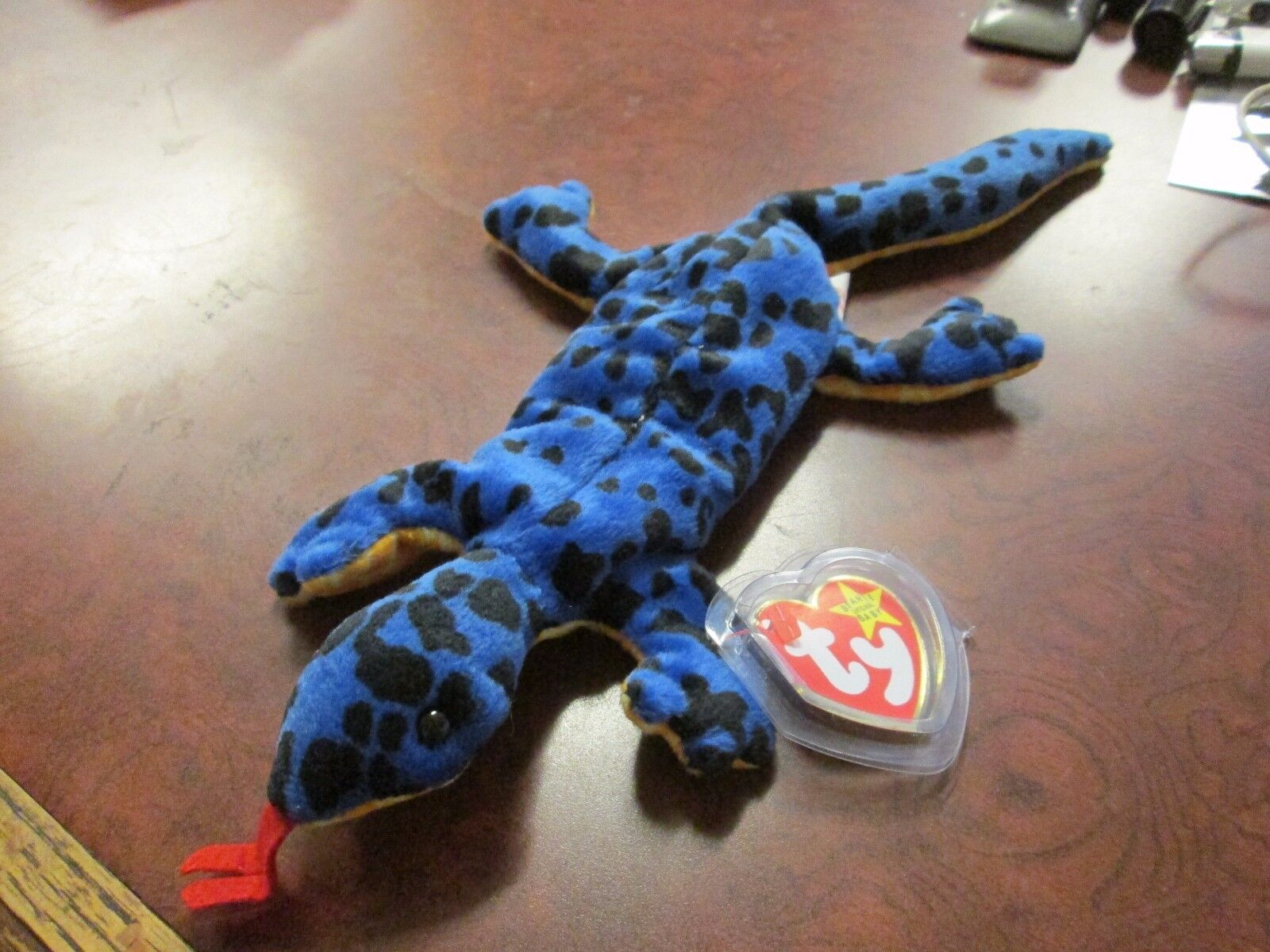 MWMT Lizzy Lizard TY original beanie baby RETIRED PVC pellets 1995