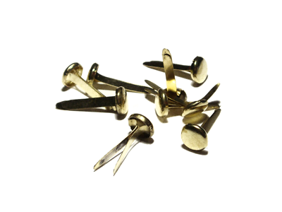 Quality Brass Plated Paper Fasteners Split Pins Butterfly Clip 13mm