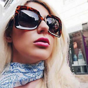 46876dfcc10 Image is loading Large-Oversized-Square-Sunglasses-Gradient-Lens-Thick-Retro -