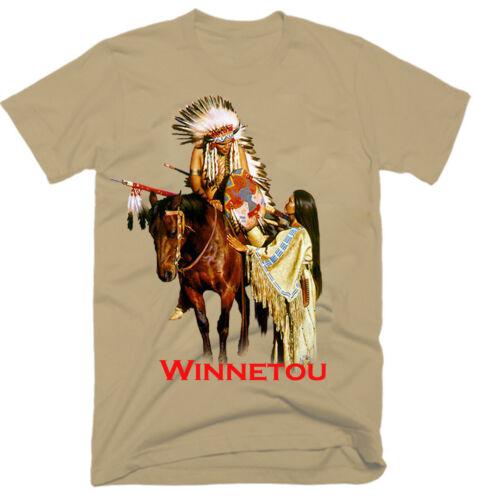 WINNETOU,MOVIE,100/% COTTON,MEN/'S T-SHIRT.,E0316