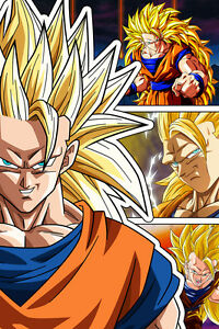 dragon ball super z goku super saiyan 3 12in x 18in poster free