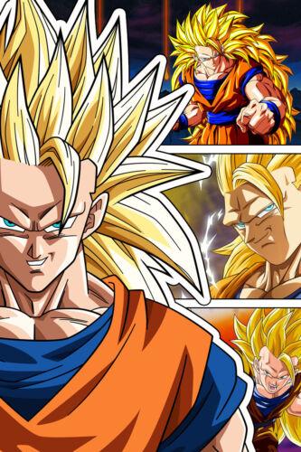 Dragon Ball Super//Z Goku Super Saiyan 3 12in x 18in Poster Free Shipping