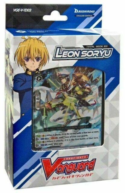 Vanguard Trial Deck 03 Leon Soryu Aqua Force English VGE-V-TD03 Cardfight