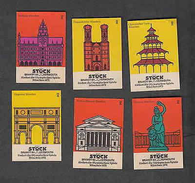 Série étiquettes Allumettes Tchécoslovaquie Monuments