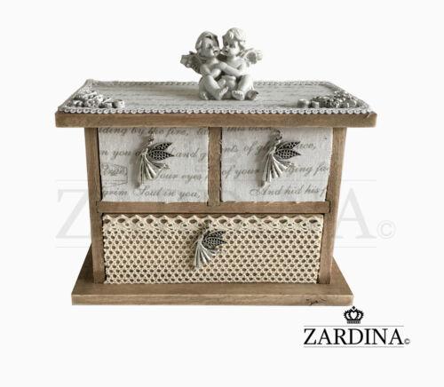 Baby Angels - Craft Wooden Mini Jewellery/Storage Box
