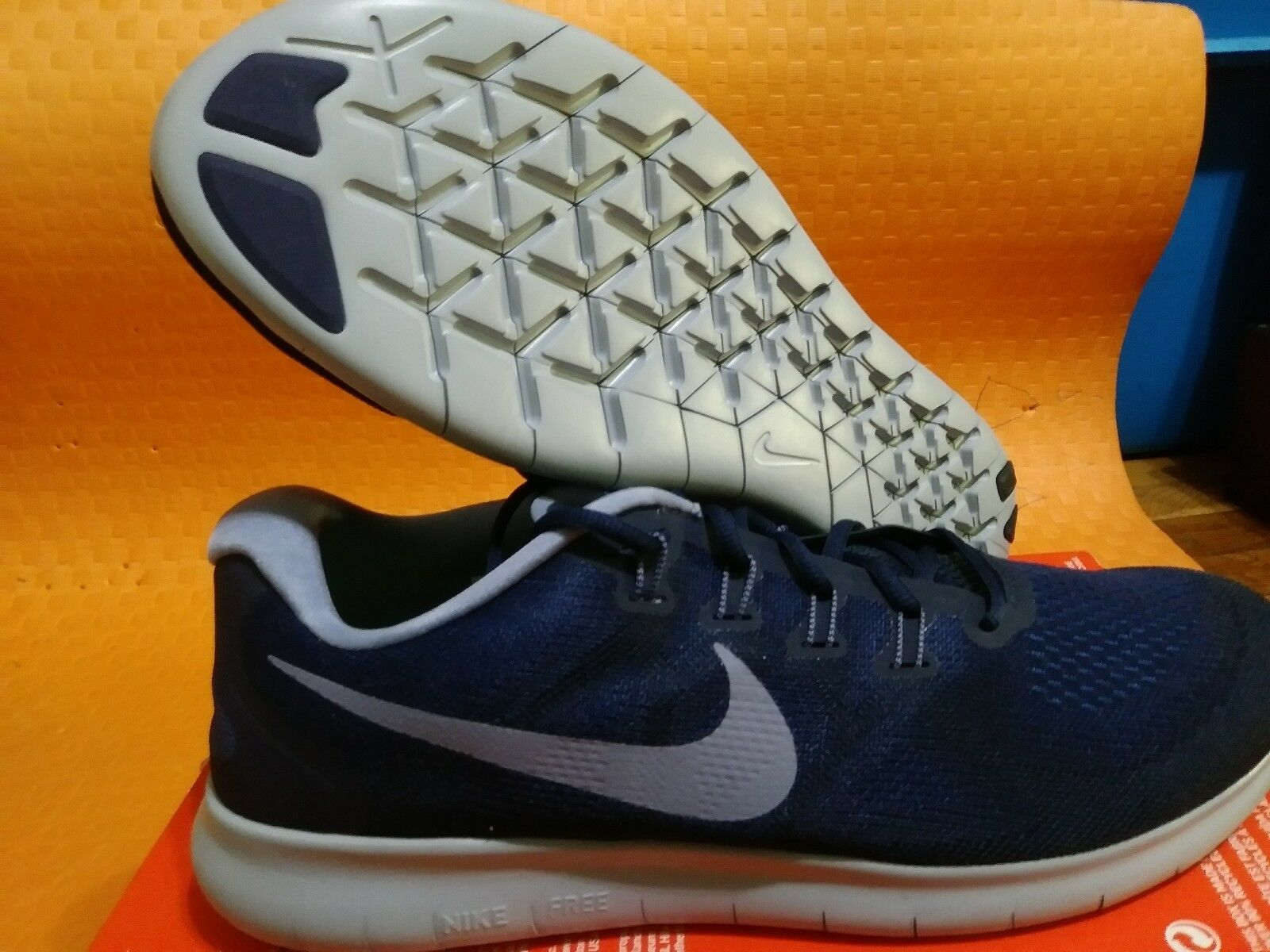 d791631c36ac NEW BRAND Nike Nike Nike Free RN 2017 Binary bluee Grey 880839-404 Men s  Running