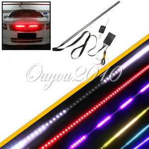 knight rider 56cm 48 led rgb wasserdicht lichtleiste scanner stripe streifen 12v ebay. Black Bedroom Furniture Sets. Home Design Ideas