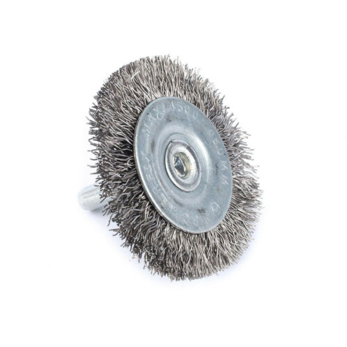 """10Pcs 50mm Stainless Steel Wire Brush 1//4/"""" Shank For Bench Grinder Rust Removal"""