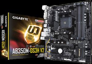 Details about Gigabyte GA-AB350M-DS3H V2 Motherboard CPU AMD AM4 Ryzen DDR4  HDMI DVI RGB LED