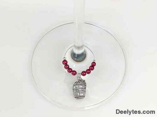 Wine Lover 6pc Set Tuscany Vineyards Wine Themed Glass Charms Red White Rosé