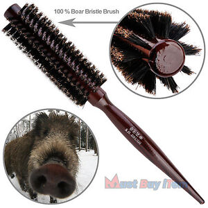 Natural Boar Bristle Round Hair Rollers Brush Styling Brushes Wood Combs Curlers Ebay