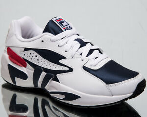 Details about Fila Mindblower Mens White Navy Sneakers Casual Lifestyle Shoes 1RM00128 422