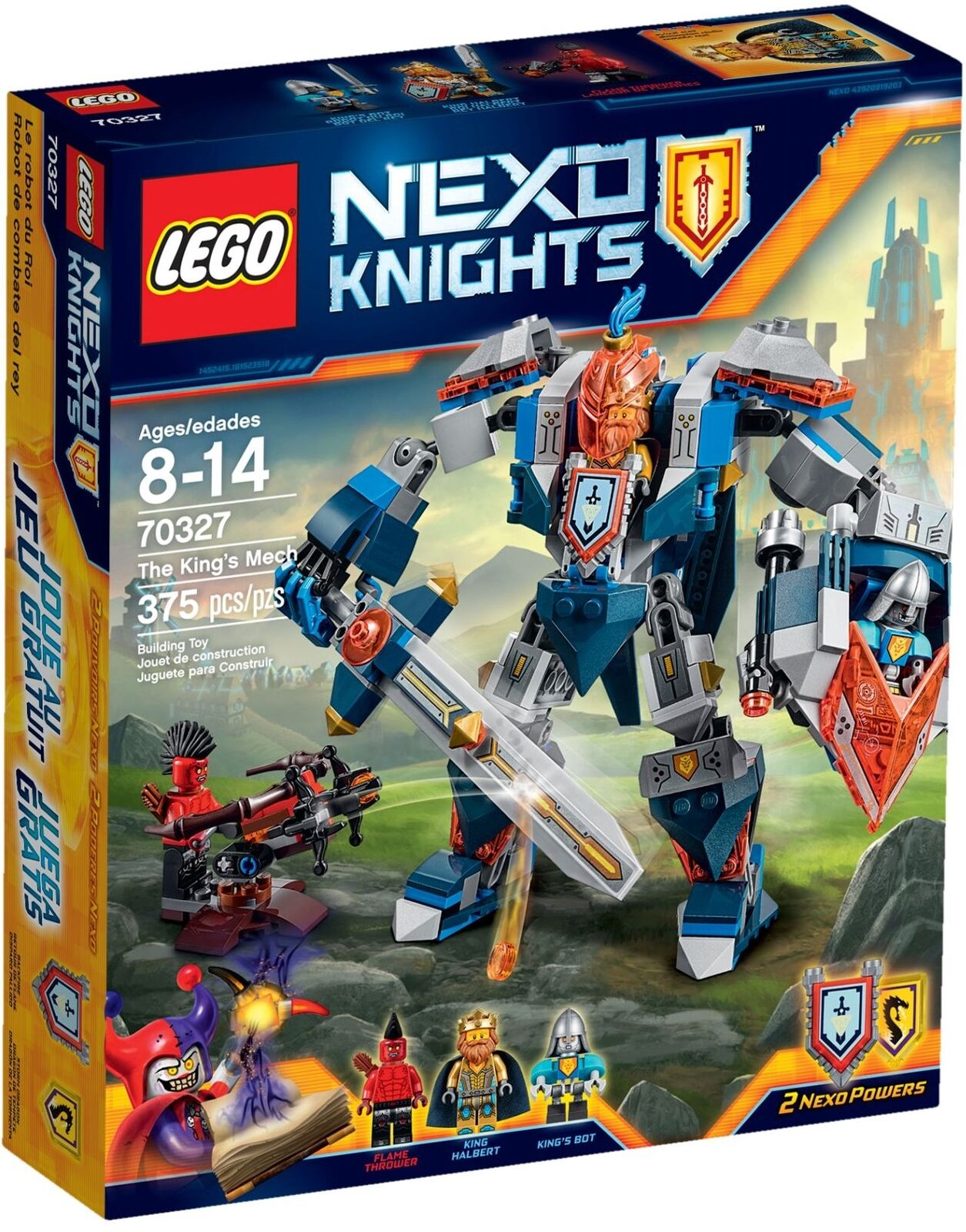LEGO 70327 The King's Mech. Nexo Knights. NEW.