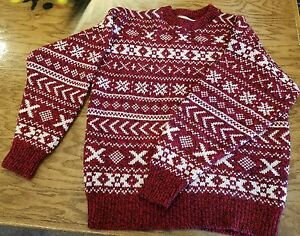 Merrimac-Valley-New-England-Mens-Wool-Sz-med-Sweater