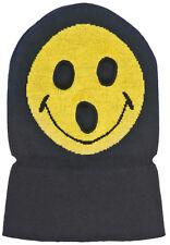 J14 - Volcom Smile Mask / Hat / Beanie * NWT Mens Black  / Yellow - #24309