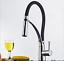 AS-Gooseneck-Black-Brass-Pull-Down-Spout-Kitchen-Sink-Chrome-Faucet-Mixer-Taps thumbnail 6