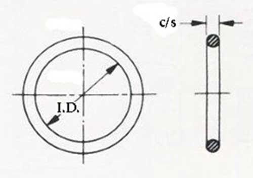 Nitrile 50 black Standard Size -212 O-Ring Seal 5,000 pc lot